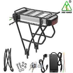 36V13Ah E-Bike Batterie Vélo Electrique Lithium avec Porte-Bagage pour V-Frein