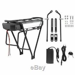 36V 13Ah 481Wh E-bike Batterie Li ion pour Vélo Electrique+Porte-bagage+Chargeur