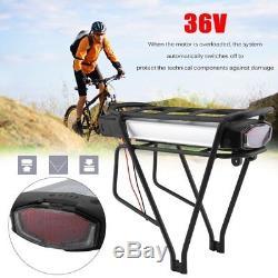 36V 13Ah 481Wh Li-Ion E-Bike Batterie pour Vélo chargement Porte-bagage+Chargeur