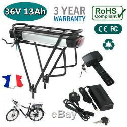 36V 13Ah Batterie Lithium-ION 2pôles pour vélo électrique+Porte-Bagages+Chargeur