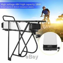 48V18Ah Ebike Batterie Vélo Electrique Lithium Battery+Porte-Bagage pour V-Frein