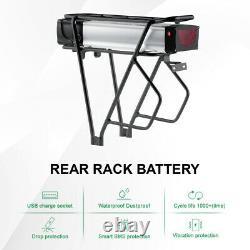 48V20Ah E-Bike Batterie de Vélo Electrique, Porte-bagage pour 26-28 V Brake