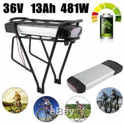 Batterie Lithium-ION 36V 13Ah 2pôles pour vélo électrique+Porte-Bagages+Chargeur