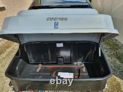 COFFRE SUR ATTELAGE / PLATEFORME POUR PORTE-VELOS RABATTABLE 300L Menabo Boxy