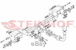 Citroen C1 pour porte-vélos 05-14 Attelage détach. +faisceau 7-broches uni