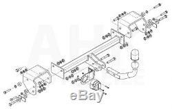 Citroen C1 pour porte-vélos 05-14 Attelage fixe+faisc. 13b uni. Compl