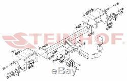 Citroen C1 pour porte-vélos 05-14 Attelage fixe+faisc. 7b uni. Compl