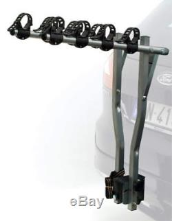 ETC Deluxe Porte-vélos pour voiture Argenté Capacité 4 vélos