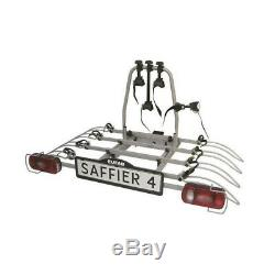 EUFAB Porte-vélos plateforme pour 4 vélos Saffier