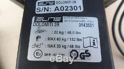 Elite 0143501 Dolomiti Support de Vélos, Bicyclette Porte-Vélos pour 2 Vélos