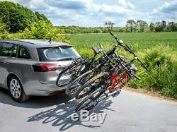 Eufab 11514 Porte Basculant pour 4 Vélos, Gris Anti-Vol Porte Vélo