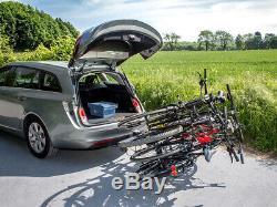 Eufab Ambre Gris 4 Porte-Vélos pour 4 Vélos Auto Galerie, Attelage de Remorque