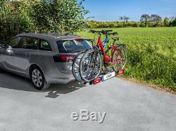 Eufab Porte-Vélos Corbeau pour 2 Vélos Voiture Galerie, Attelage de Remorque AHK