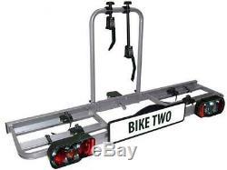 Eufab Vélo Two Porte-Vélos pour 2 Vélos Auto Galerie, Attelage de Remorque AHK