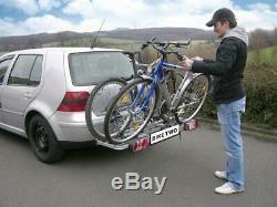 Eufab Vélo Two Porte-Vélos pour 2 Vélos Voiture Galerie, Attelage de Remorque AHK