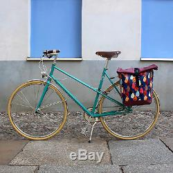 IKURI Sacoche Vélo Pour Porte-Bagage Sac De Velo En en Tissu Vinyl imprimé Imp