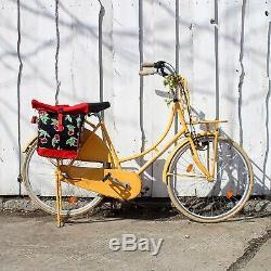 Ikuri Sacoche Vélo Pour Porte-Bagage Sac De Velo En Toile Cirée Avec Bandouli