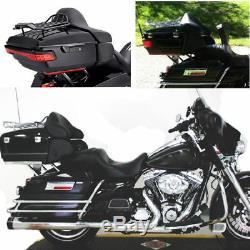 Moto Vélo Peint Roi Tour Pak Pack Coffre Porte-Bagages Pour Harley Touring Road