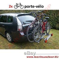 PORTE-VELOS SUSPENDU SUR ATTELAGE RABATTABLE POUR 2 VELOS Porte-vélo AHAKA