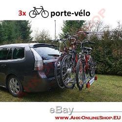PORTE-VELOS SUSPENDU SUR ATTELAGE RABATTABLE POUR 3 VELOS Porte-vélo