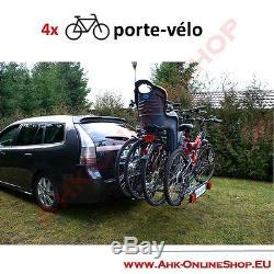 PORTE-VELOS SUSPENDU SUR ATTELAGE RABATTABLE POUR 4 VELOS Porte-vélo AHAKA