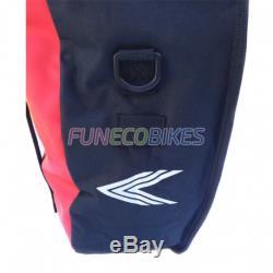 Paire de sacoches étanche pour vélo sur porte bagages arrière