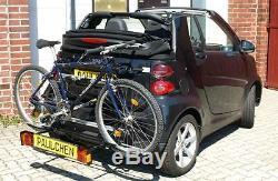 Paulchen Porte-Vélos Arrière Confort Classe pour Smart Fortwo 451 Cabriolet