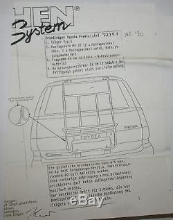 Paulchen Système Galerie, Porte-Vélos pour Toyota Estima & Previa (XR10/XR20)