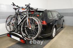 Pliable porte-vélos sur attelage pour 2 vélos Aguri Active Bike 2 SILVER 60 kg