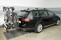 Pliable porte-vélos sur attelage pour 3 vélos Aguri Active Bike 3 SILVER 60 kg