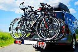 Pliable porte-vélos sur attelage pour 4 vélos DGH System STORM 4 60 kg