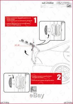 Porte-Vélos Arrière 3 Sièges + 2 Adaptateurs pour Toyota Auris Touring Sports