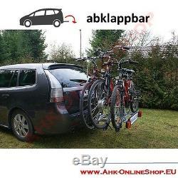 Porte-Vélos Attelage de Remorque pour 3 Vélos Galerie, AHK Arrière