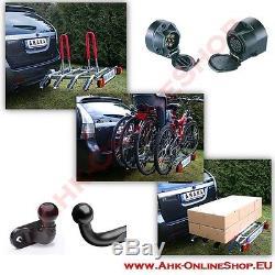 Porte-Vélos Attelage de Remorque pour 4 Vélos Galerie, AHK Arrière