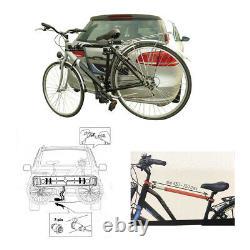 Porte-Vélos Pour 2 Vélos Sur Attelage de Remorque Inclus Éclairage Et Adaptateur