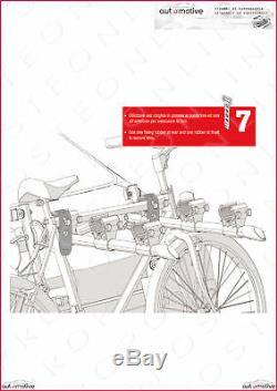 Porte-Vélos pour Porte de Coffre à Bagage Arrière Trois Sièges Daewoo Matiz 05