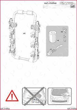 Porte-Vélos pour Porte de Coffre à Bagage Arrière Trois Sièges Fiat Panda 8086