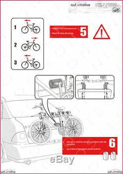 Porte-Vélos pour Porte de Coffre à Bagage Arrière Trois Sièges Renault Kadjar