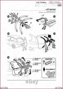 Porte-Vélos pour Porte de Coffre à Bagage Arrière Trois Sièges Suzuki Splash 08