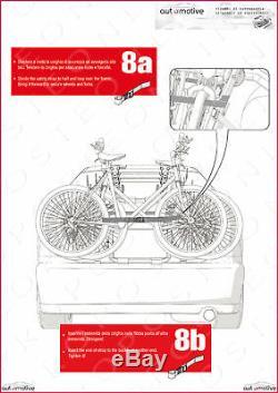 Porte-Vélos pour Porte de Coffre à Bagage Arrière Trois Sièges Toyota Yaris