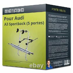 Porte-vélo Menabo Logic 2 pour Audi A3 Sportback (5 portes) type 8P 2 vélos TOP