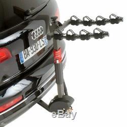 Porte vélo d'attelage mottez hercule pour 4 vélos inclinable avec antivol, sytem