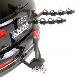 Porte vélo d'attelage pour 4 vélos inclinable avec antivol, syteme easy pour mo