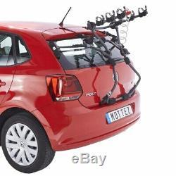 Porte vélo de coffre mottez shiva-3 pour 3 vélos avec emplacement avec antivol
