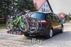 Porte-vélo de porte arrière Porte-Vélos Attelage remorque AHK pour 4 vélos