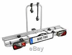Porte-vélos Acier Robuste Solide Attelage Sécurité pour Transporter 2 Vélos VTT