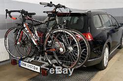 Porte-vélos sur attelage pour deux 2 vélos AMOS TYTAN 2 + un cadeau