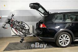 Porte-vélos sur attelage pour trois 3 vélos AMOS TYTAN 3 + un cadeau