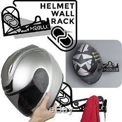 Portemanteau pour Casque Motorrad Vélo Support Porte-manteau Casque 100% Acero