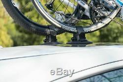 ROCKBROS Porte de Vélo pour Toit Voiture Fixation Ventouse Rouge pour 1 2 3Vélo